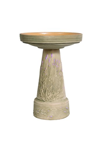Burley Clay Lavender Bird Bath Set ()