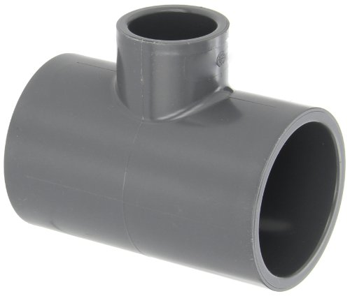 "GF Piping Systems PVC Pipe Fitting, Reducing Tee, Schedule 80, Gray, 2"" x 2"" x 1"" Slip Socket from GF Piping Systems"