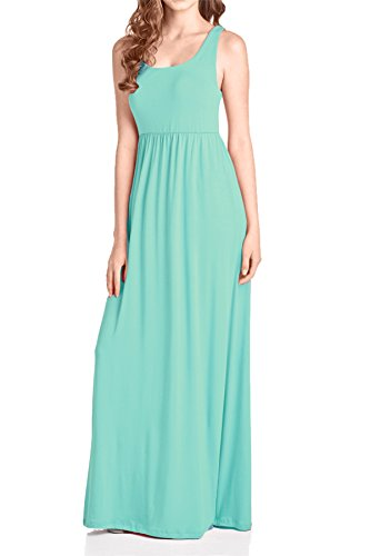 Beachcoco Women's Maxi Tank Dress (S, Mint)