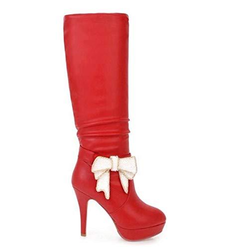 Woman Size Zipper Haoliequan The Heeled Azul Knee Winter Boots Long Women Over Footwear Shoes Platform 33 43 CwwqXxO1n