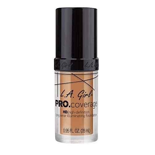 L.A. Girl Pro Coverage Liquid Foundation, Soft Honey, 0.95 Fl Oz