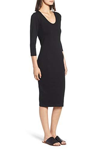 James Perse Womens Dress Carbon 2 US Medium Sheath U-Neck Black M
