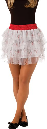 Rubie's DC Comics Superhero Style Skirt With Sequins, Red, One Size Costume (Harley Quinn Costume Teen)