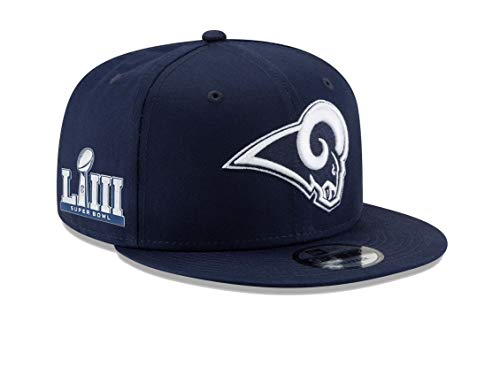 New Era 9Fifty Los Angeles Rams Super Bowl LIII (53rd) Side Patch Sideline Snapback Hat - Navy ()