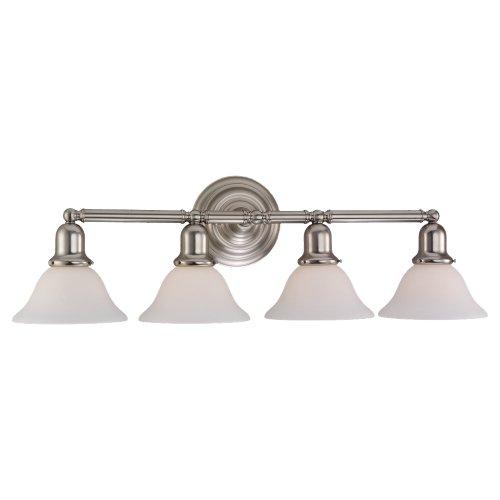 Sea Gull 44063-962 4-Light Sussex Bathroom Vanity Light, Brushed Nickel