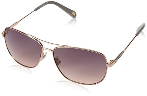 Fossil Fos3058s Square Sunglasses, Rose Gold/Smoke Tan, 58 - Womens Sunglasses Fossil