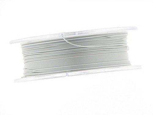 0,4mm Edelstahldraht ( Schmuckdraht für Kette, Armbänder, Ohrringe etc.), nylonummantelt,10m Rolle pearl silver