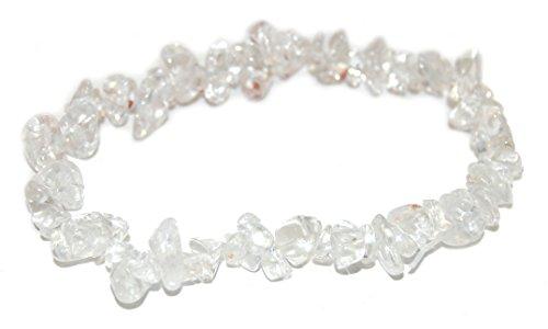 Miner's Horde - Chip Chunk Bracelet Clear Quartz White, 6-8