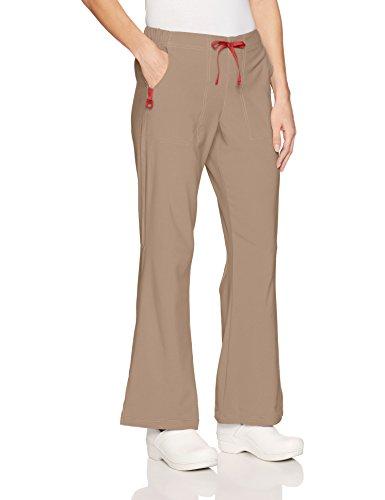 Ladies Flat Front Scrub Pants (Carhartt Women's Flat Front Flare Pant, Khaki, LG)