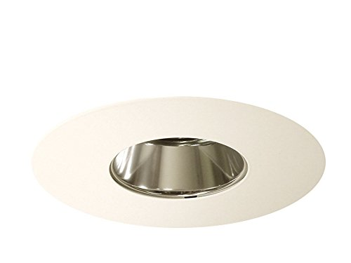 Juno Lighting Group 457C-WH Cone-Downlight/Adjustable Low Voltage Trim with Clear Alzak, 6-Inch