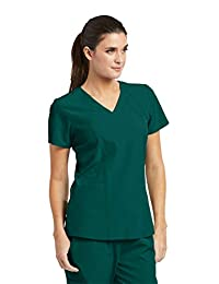 Barco One Women's 5105 V-Neck Perforated Detail Performance Scrub Top