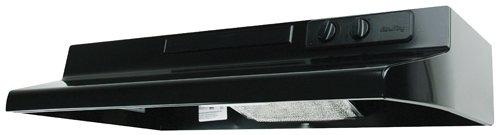 Air King DS1306 Designer Series 30-Inch Under Cabinet Range Hood, Black by Air King