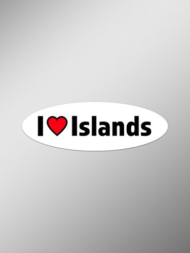 I Love Islands Vinyl Decals Stickers ( Two Pack ) | Cars Trucks Vans Windows Walls Laptop Cups | Printed | 2 - 5.5 Inch Decals | KCD1418