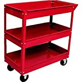 Toolscentre Exclusive Quality 3 Layer Shelf Workshop Trolley Rolling Storage Tool Cart.