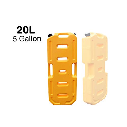(SXMA Fuel Tank Cans Spare 5 Gallon Portable Fuel Oil Petrol Diesel Storage Gas Tank Emergency Backup for Jeep JK Wrangler SUV ATV Car Motorcyc Toyota ect Most Cars (Pack of 1) (Yellow))