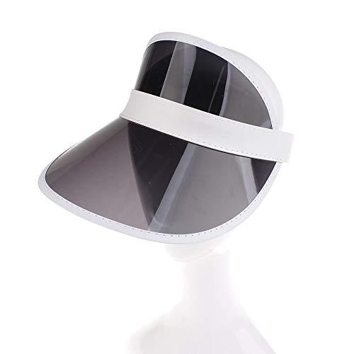 Sun Screen Visor Hat Cap, Tennis Beach Colored Plastic Clear Protection Cover Flexible Headband (one Size, -