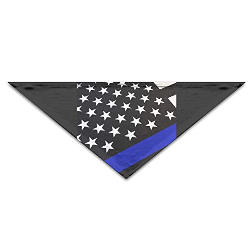 YanHill America Thin Blue Line Flag Pet Bandana Triangle Dog Cat Neckerchief Bibs Scarfs Accessories for Pet Cats and Baby Puppies]()