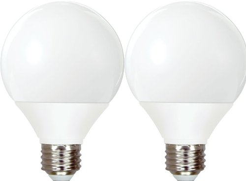 GE Lighting 89096 Energy Smart CFL 11-Watt (40-watt replacement) 500-Lumen G25 Light Bulb with Medium Base, 2-Pack