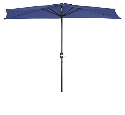 - Trademark Innovations Patio Half Umbrella - 8' (Teal)