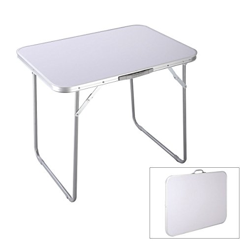Goplus Portable Camping Table 4-Person Folding Aluminum Picnic Party Dining Desk In/Outdoor by Goplus