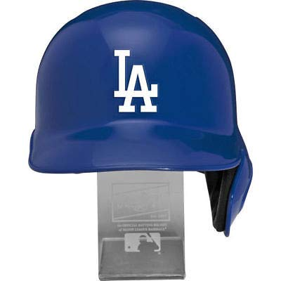 Rawlings MLB Los Angeles Dodgers Replica Batting Helmet with Engraved Stand, Official Size, Blue