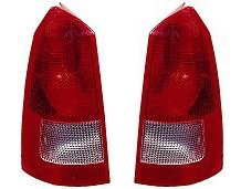 lacement Tail Light Unit (Black Housing) - 1-Pair (Wagon Tail Light Lens)