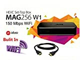 MAG 256 IPTV SET TOP BOX Multimedia Player IPTV (HEVC H.265) with Wifi Adapter & HDMI Cable (much faster than MAG 254)