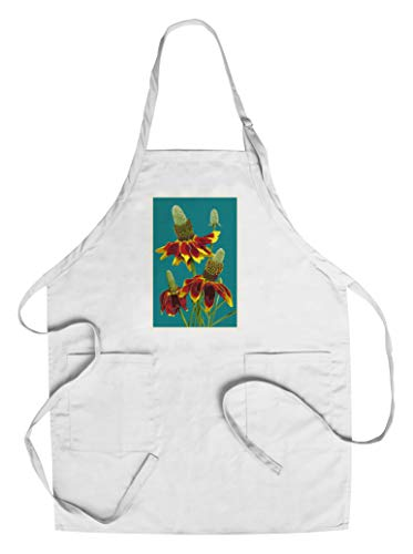 Mexican Hat - Letterpress (Cotton/Polyester Chef's Apron) by Lantern Press