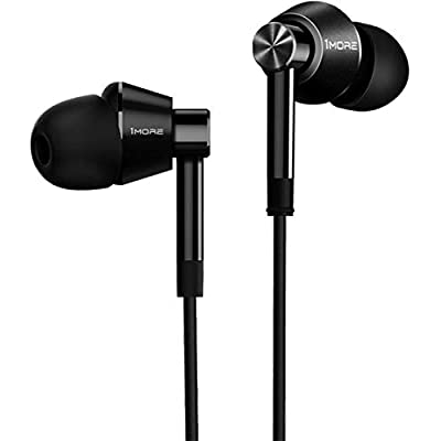 1MORE Dual Driver In-Ear Earphones Hi-Res Comfortable Headphones with Tangle-Free Cable  Noise Isolation  High Resolution  In-Line Control for Smartphones PC Tablet E1017 Space Gray