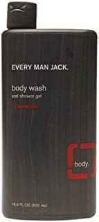 product image for Body Wash and Shower Gel, Cedarwood 16.9 oz (500 ml) by Every Man Jack (Pack of 5)