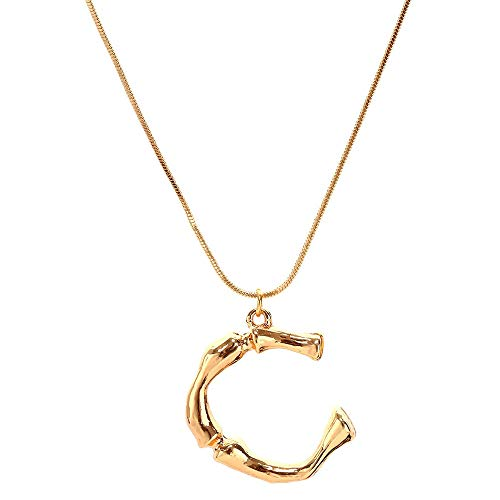 Mlide 26 English Alphabet Name Necklaces,Fashion Women Gift Chain Pendant Jewelry (C)