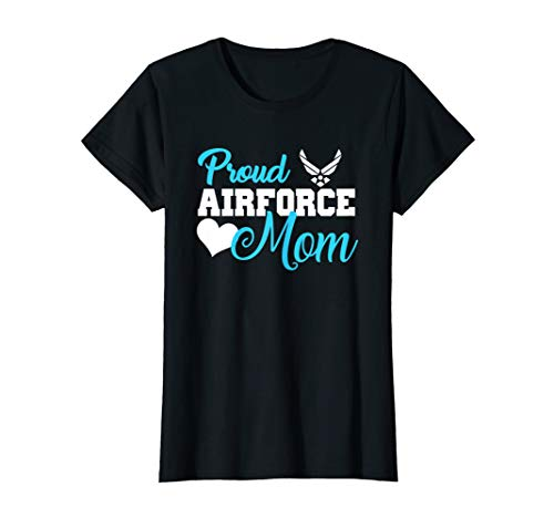 Womens Proud Air Force Mom Heart Military Family Gift Women T-Shirt