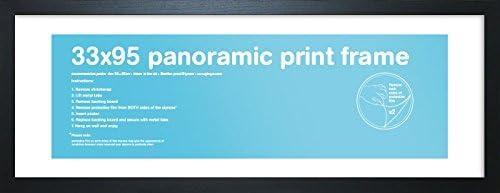 33 x 95 cm Wood 33x95cm-Eton Black Frame-Panoramic GB eye LTD