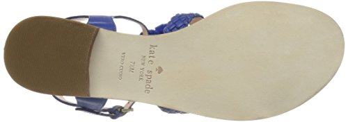 york kate Women's Sunset Cobalt new spade Flat Sandal UEEqng7wA