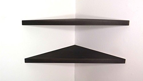 22-wide-set-of-2-solid-wood-corner-shelves-with-ebony-stain-choose-a-polyurethane-finish-handmade-in
