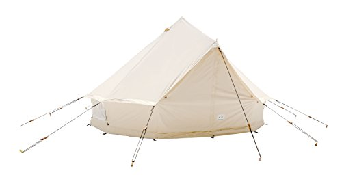 White Duck Outdoors 4M Canvas Camping Bell Tent Waterproof Glamping Cotton Luxury Family Safari Tent