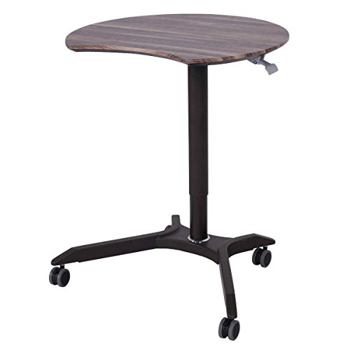 Toolsempire Mobile Sit-Stand Computer Desk Rolling Cart Height Adjustable Laptop Home Office Workstation ()