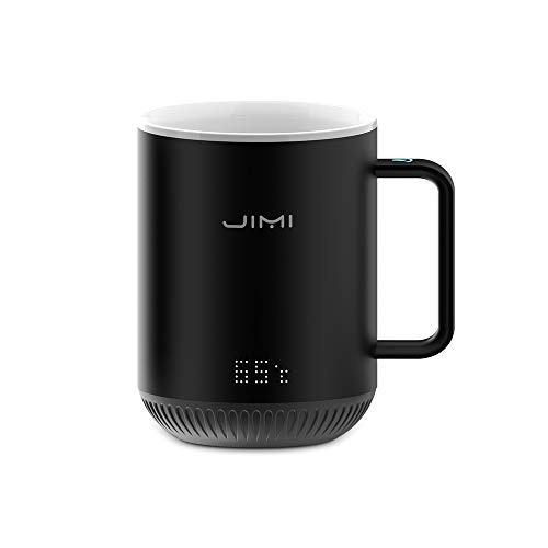 The Smartshow Smart Temperature Control Ceramic Mug,Warmer for Home/Office/Coffee/Tea/Milk/Juice,Best Gift Idea,Remote Interaction,Touch Tech&LED - Ceramic Coffee Gift Mug