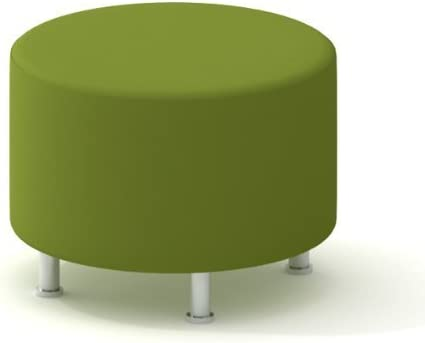 Amazon Com Turnstone Alight Lounge Round Ottoman Brushed Aluminum Legs Furniture Decor