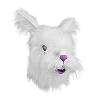 Horror-Shop Máscara de conejo Premium con piel sintética