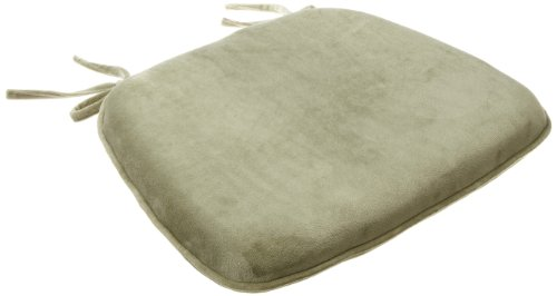 Brentwood Plush Memory Foam Chairpad, Green Tea (Cushions Brentwood)