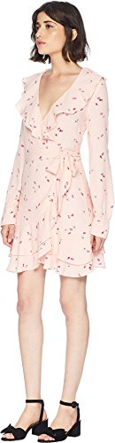 Juicy Couture Women's Rose Floral Flirty Wrap Dress Soft Glow Floral Riot Medium by Juicy Couture (Image #1)