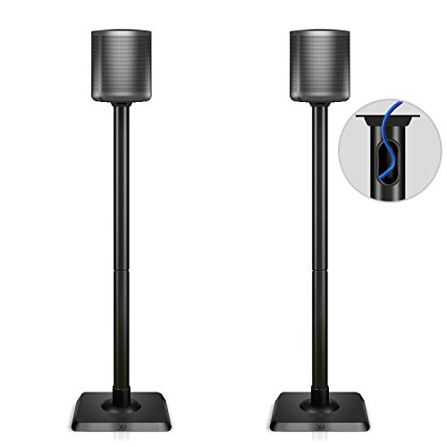 Mounting Dream Speaker Stand Pair for Home Theater Surround Sound Satellite Speakers, Set of 2 Floor Stand Mounts Built-in Cable Management Universal compatibility with 11LBS Capacity Per Stand (Universal Floor Stands)