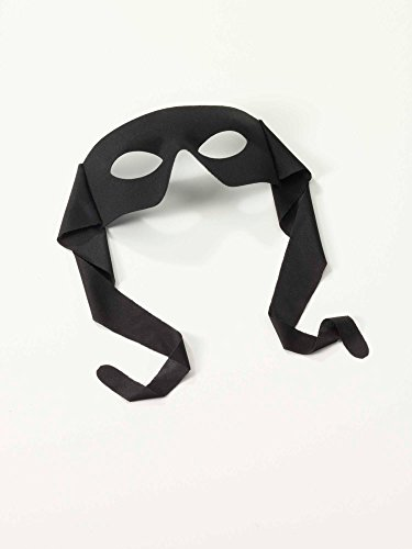 Forum Novelties Venetian Mardi Gras Burglar Halloween Half Eye Mask - Black -
