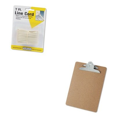 KITSOF48106UNV40304 - Value Kit - Softalk Telephone Extension Cord (SOF48106) and Universal 40304 Letter Size Clipboards (UNV40304)