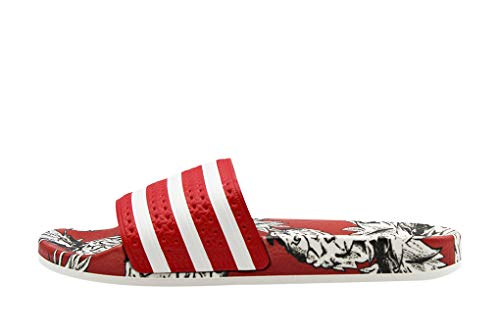 adidas Adilette W, Zapatillas de Gimnasia para Mujer Rojo (Scarlet/Off White/Scarlet 0)