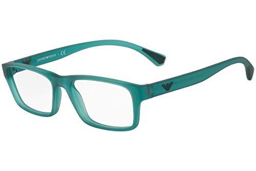 Emporio Armani EA3088F Eyeglass Frames 5534 - Matte Transparent Petroleum 55mm