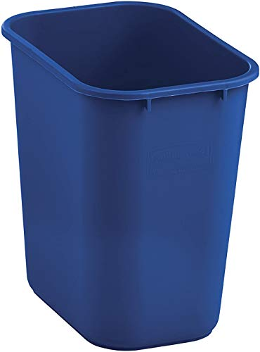 Rubbermaid Commercial Medium Wastebasket, 28 Quart - Blue