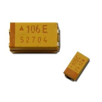 25 x 22µf 22uf 10v SMD Tantalio Condensatore Capacitor ta AVX CASE CODICE C 25pcs