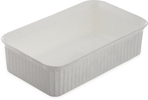 Carlisle 811002 Deliware Polypropylene Rectangular Crock, 5 lb. Capacity, 10.06 x 6.18 x 3.7'', White (Case of 12) by Carlisle